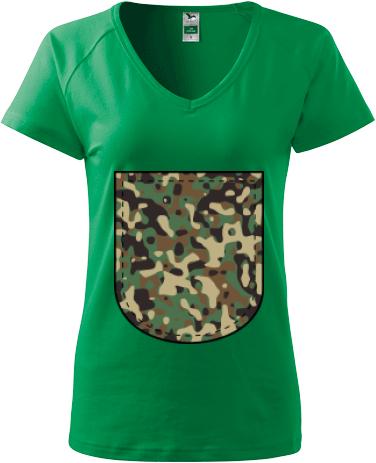 9e6712a70a4d3 Maskáčové vrecko   Dámske tričko Adler Dream s možnosťou potlače ...