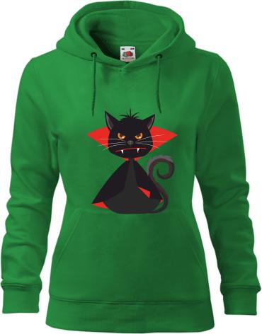 Čierna mačička v kapucni
