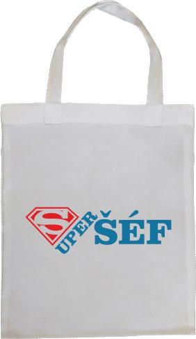 366b89550 Super šéf | Plátená nákupná taška 30 x 35 cm s možnosťou potlače ...