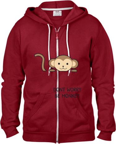 c6f1bfec405a2 Be Monkey | Pánska mikina s kapucňou na zips s možnosťou potlače ...