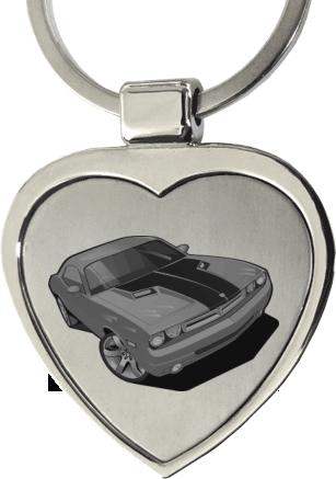 Kovový prívesok na kľúče v tvare srdca 83e96e759f2