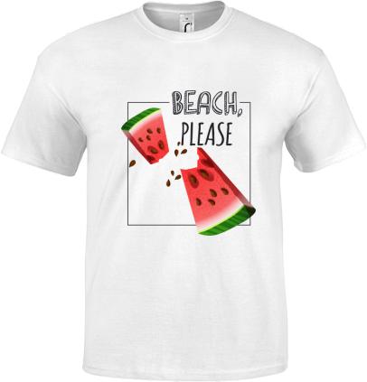 0a040fbb17758 Beach, please   Klasické detské tričko Regent s možnosťou potlače ...